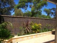 Brushwood cladding panels.
