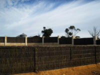 Brushwood fence panels