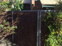 Brushwood cladding panels used with colour bond steel frame